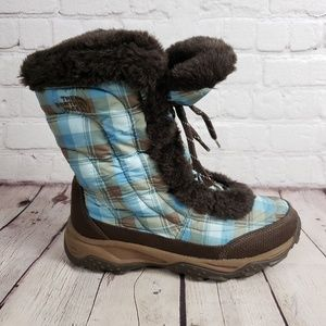 The North Face Blue Quilted Boots Womens 6 Shoes
